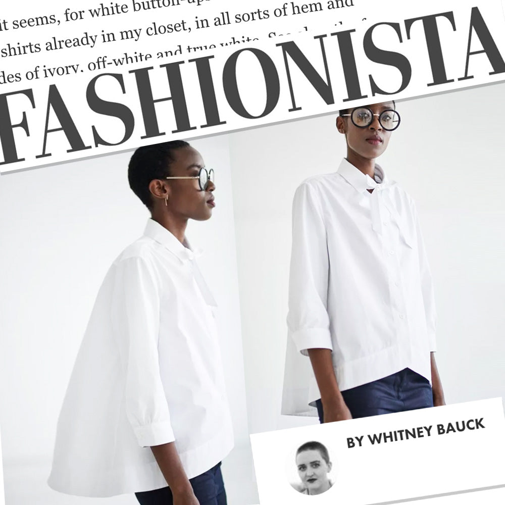 WWD GRAMMAR NYC classic collared white shirt