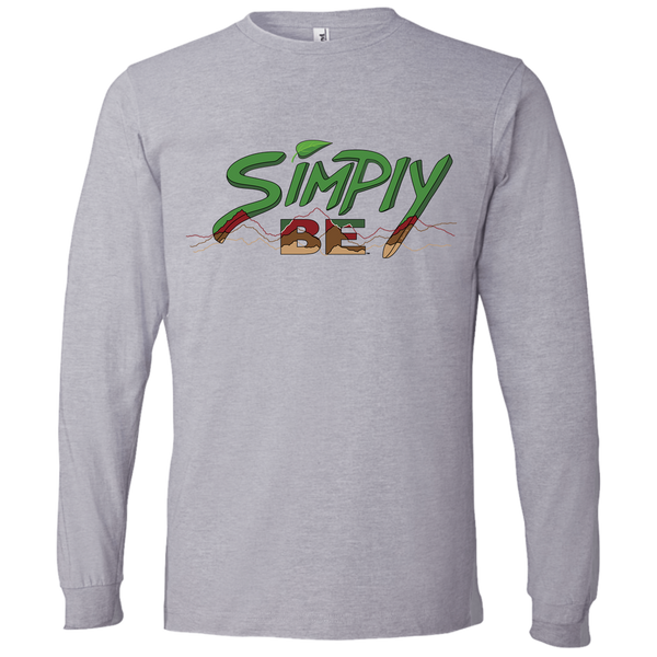 """Simply Be"" (Mountains) Mens' Long Sleeve Tee-Shirt"