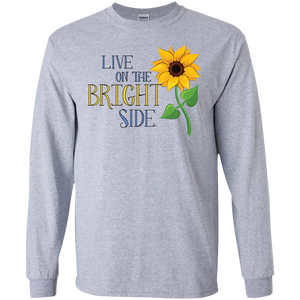 """Live on the Bright Side"" Mens' Long-Sleeve Tee"