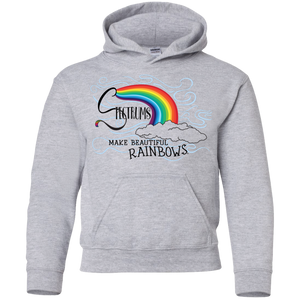 """Spectrums Make Beautiful Rainbows"" Youth Hoodie"