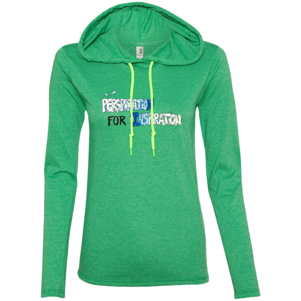 """Perspiration for Inspiration"" Ladies' Tee-Shirt Hoodie"