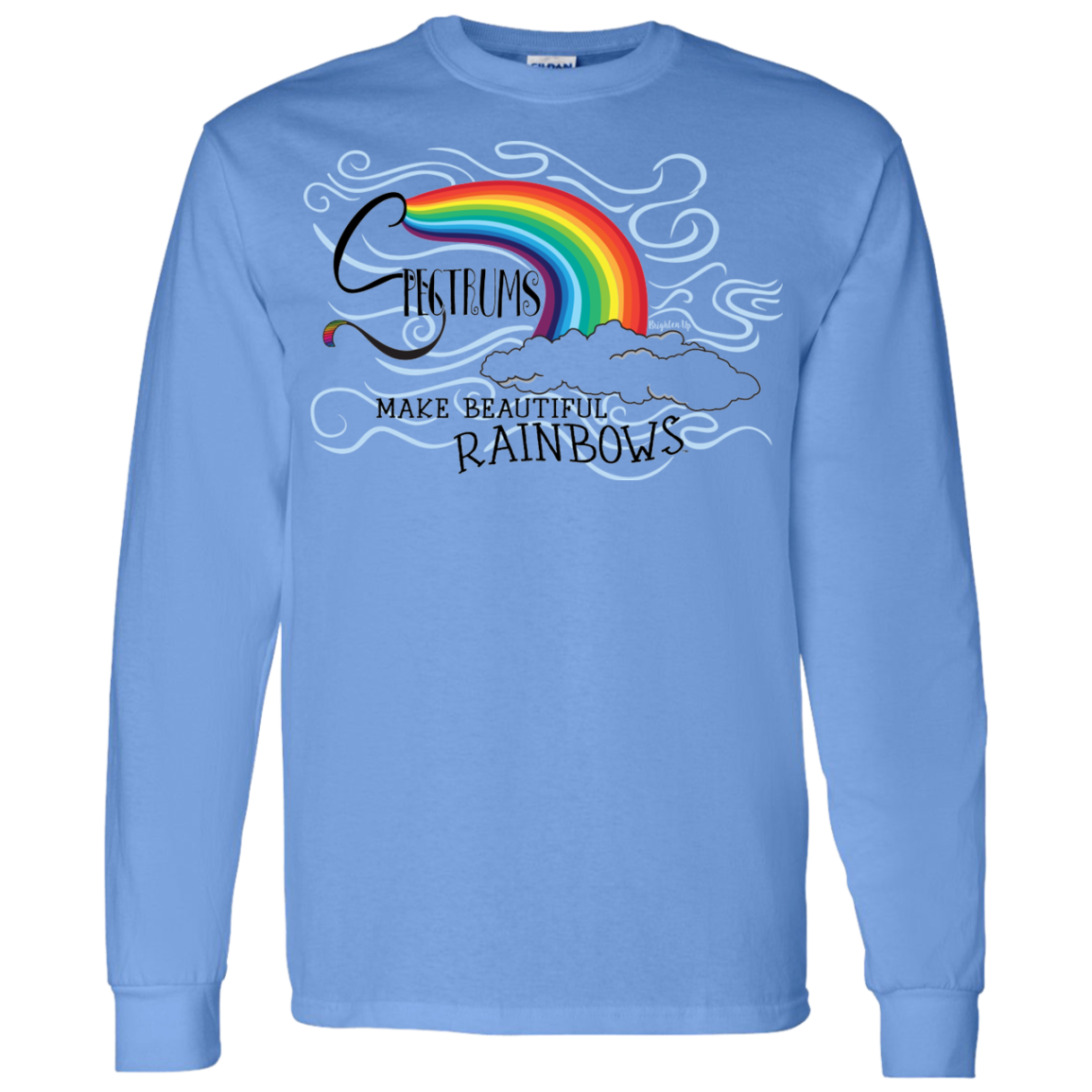 """Spectrums Make Beautiful Rainbows"" Mens' Long-Sleeve Tee-Shirt"