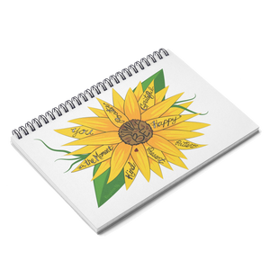 """Simply Be"" (Sunflower) Spiral Notebook"
