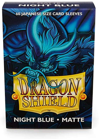DRAGON SHIELD SLEEVES: JAPANESE MATTE NIGHT BLUE (BOX OF 60)