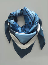 DENIM ADORE silk scarf