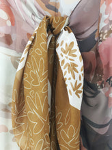 GOLDEN GIRLS silk chiffon scarf/sarong