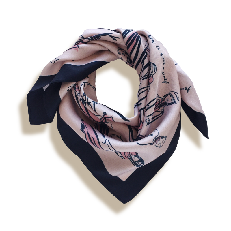 THE 'How-to-wear-a-Scarf' SCARF - blush pink