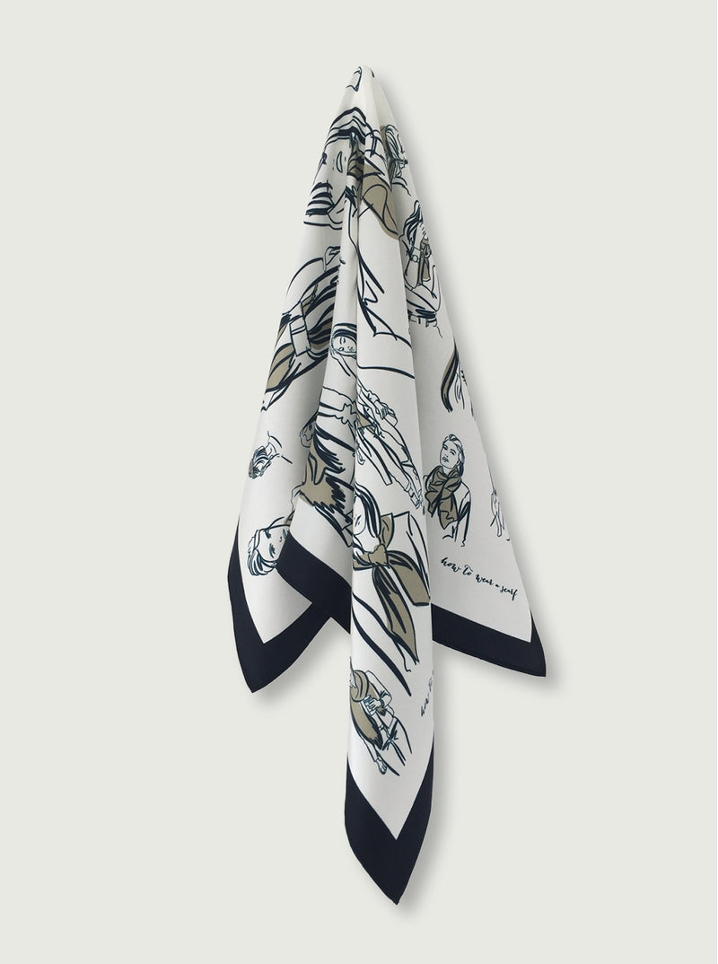 THE 'How-to-wear-a-Scarf' SCARF - ivory
