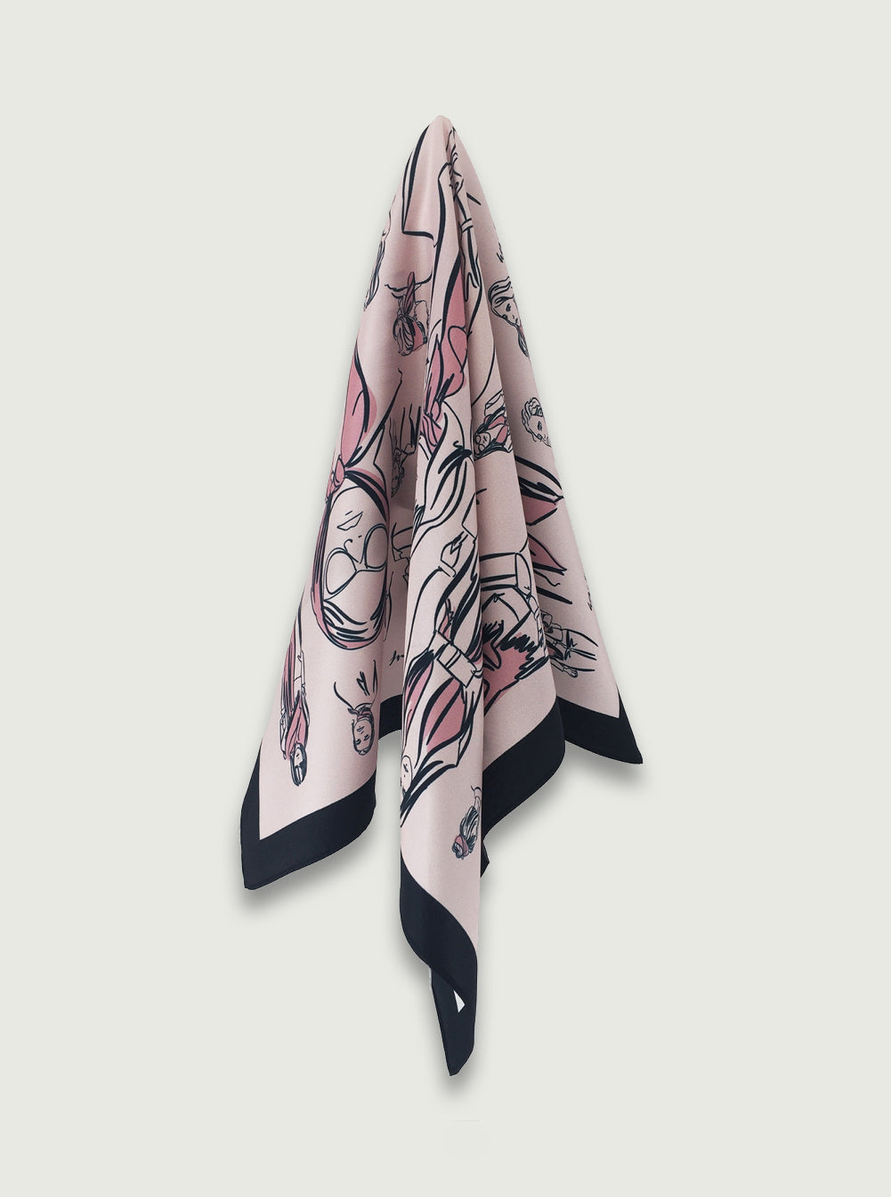 THE 'How-to-wear-a-Scarf' SCARF ~ Blush Pink