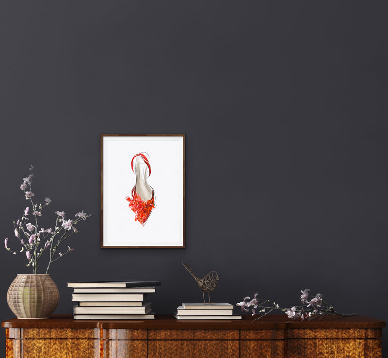 RED SHOE giclée print