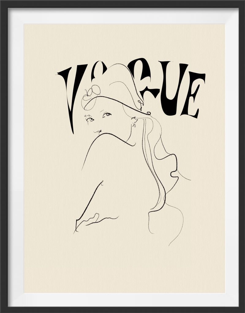 KATE EN VOGUE giclée print