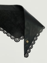 LACE LEATHER BANDANA