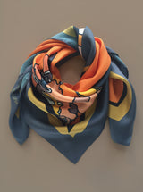 OH SO ORANGE silk scarf