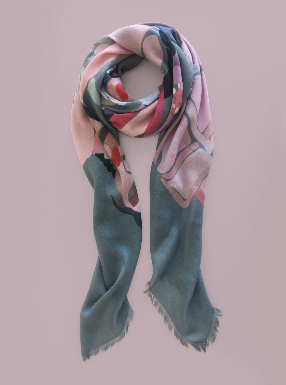 PASTEL RUNWAY ~ Large Cashmere Blend Scarf
