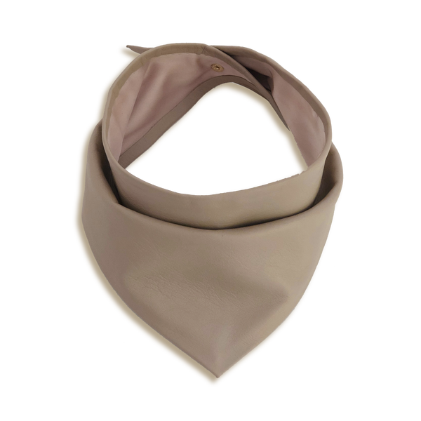 PLAIN LEATHER BANDANA