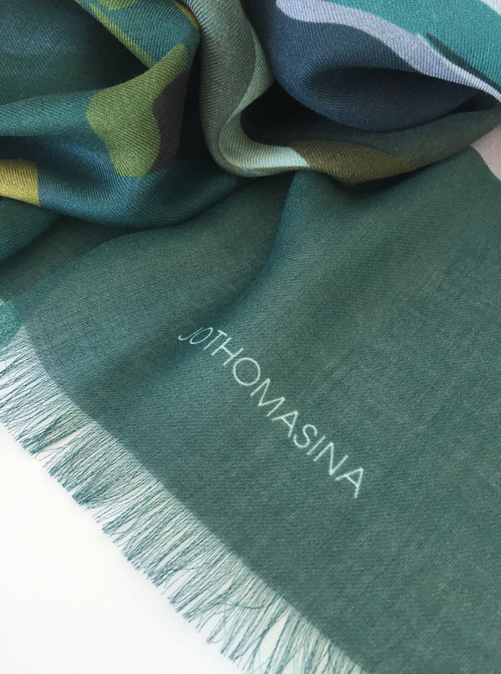 TOTALLY TEAL - Large Cashmere Blend Scarf