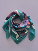 CUTE NUMBER silk scarf