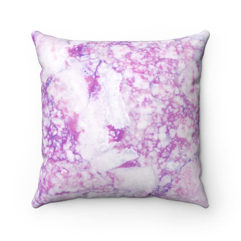 Light Purple Marble Spun Polyester Square Pillow