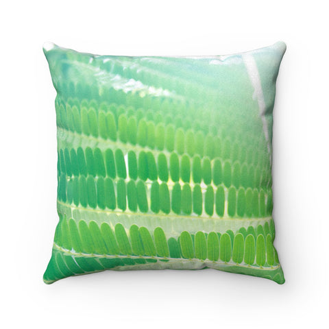 Flutter Faux Suede Square Pillow