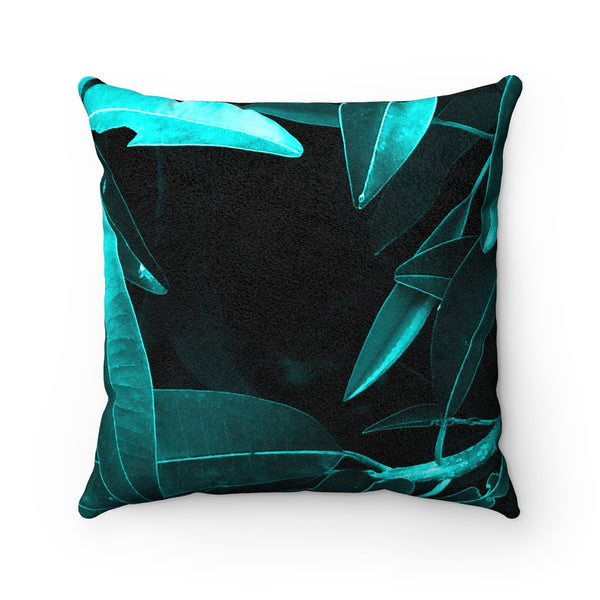 Tropical Lust II Faux Suede Square Pillow