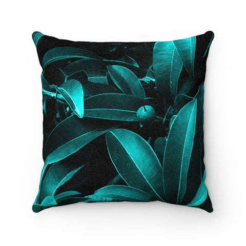 Tropical Lust Faux Suede Square Pillow
