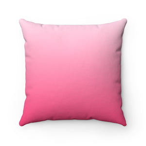 Pink Ombre Spun Polyester Square Pillow