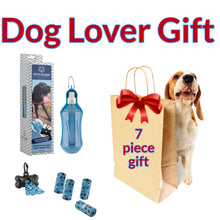 FAB FUR GEAR® Collapsible Dog Travel Water Bottle, the Drink Doggie™ Bonus Waste Container & 5 Rolls of Waste Bags
