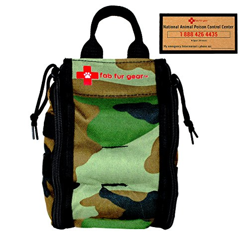 Green Camo Pet First Aid Kit for Dogs, Cats To Be Ready When They Need You!