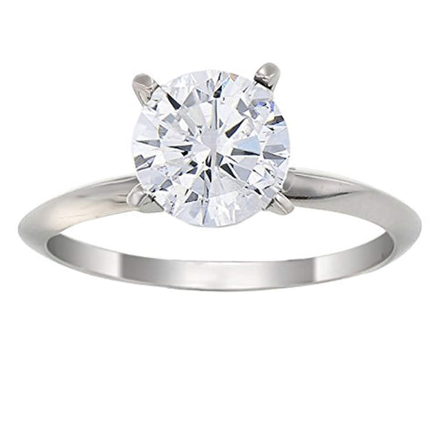 IGI Certified 0.90 CT 14K Gold Diamond Solitaire Ring In Size 7