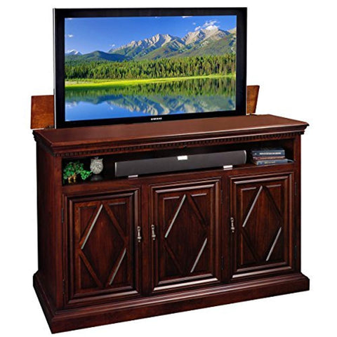 TVLiftCabinet Estancia TV Cabinet, Brown TV stand