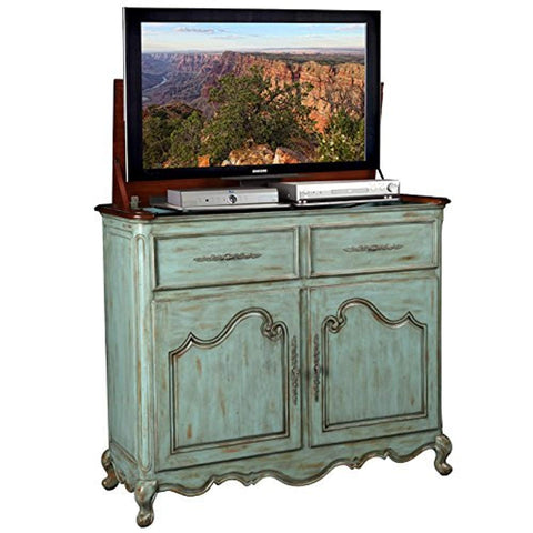 Belle Weathered Blue TV Lift Cabinet TV stand