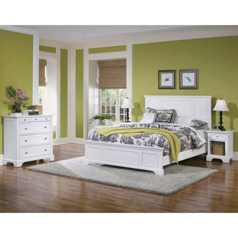 Naples Queen Bed, Night Stand and Chest available, White Finish