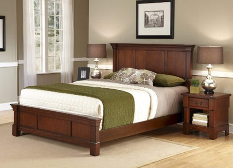 The Aspen Collection Queen Bed and Night Stand, Select options