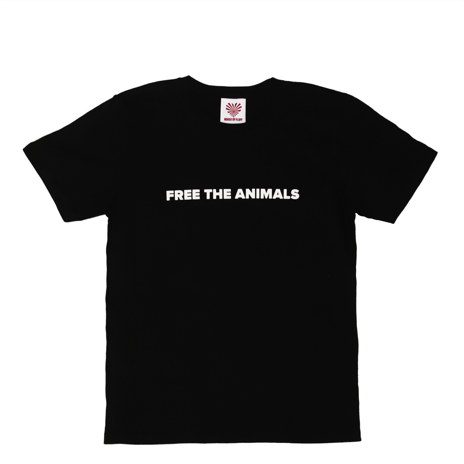 FREE THE ANIMALS™ Black Leopard Tee - House of Fluff