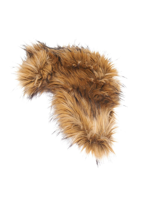 Natural Faux Fox Explorers Hat