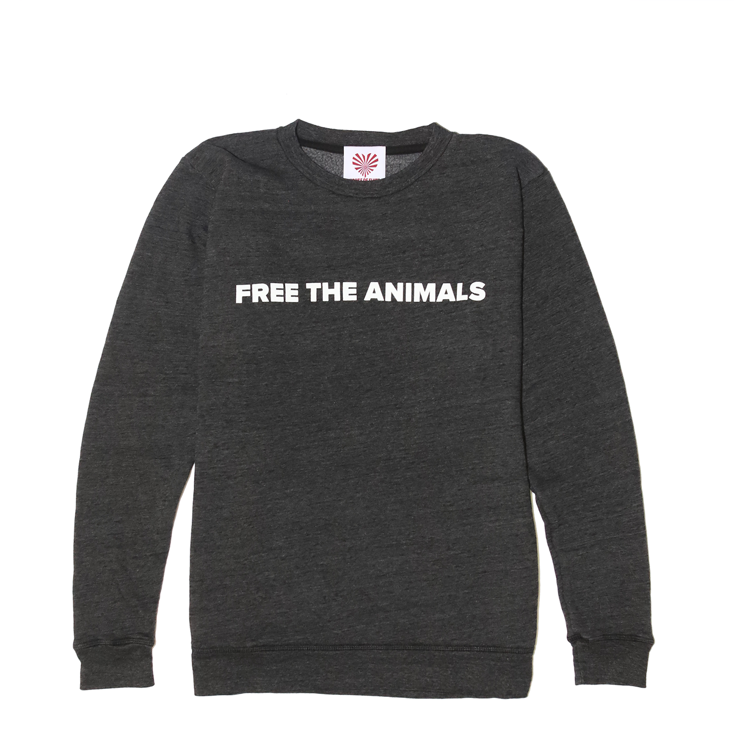 FREE THE ANIMALS™ Grey Leopard Crewneck