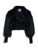 Velvet Faux Fur Jacket with Yeti Sleeves