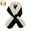 White & Black Plush Teddy Pull-Through Scarf