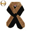 Camel Plush Teddy Pull-Through Scarf