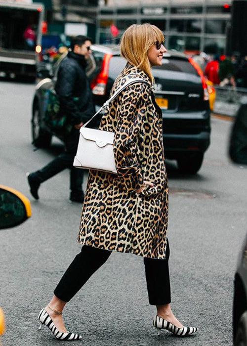 Leopard Car Coat