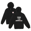 FREE THE ANIMALS™ Black Logo Hoodie - House of Fluff