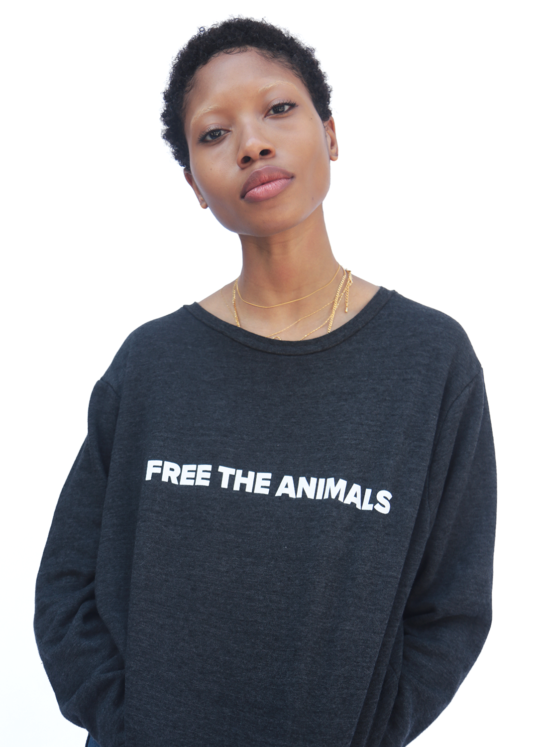 FREE THE ANIMALS™ Grey Snake Crewneck