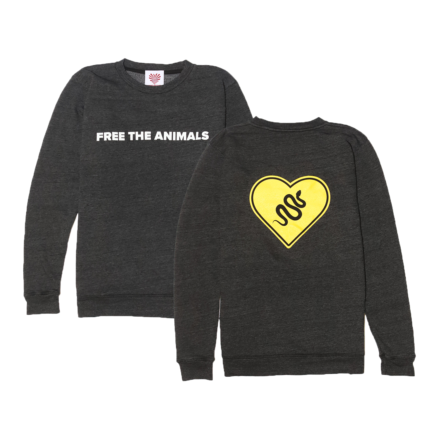 FREE THE ANIMALS™ Grey Snake Crewneck - House of Fluff