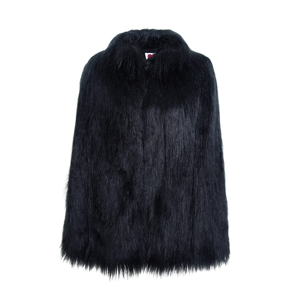 Yeti Convertible Cape Coat - Black