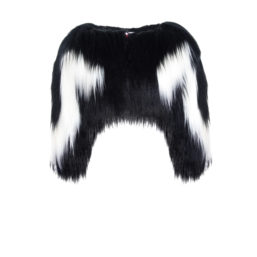 Black & White Yeti Colobus Bolero