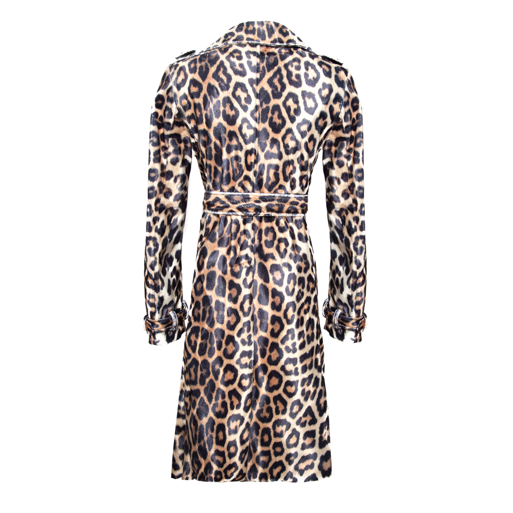 Classic Leopard Trench Coat