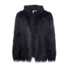 Hooded Yeti Sweatshirt Cape Jacket - Black
