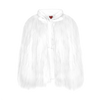 Hooded Yeti Sweatshirt Cape Jacket - White - House of Fluff