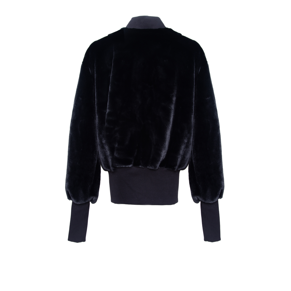 Oversized Teddy Bomber Jacket