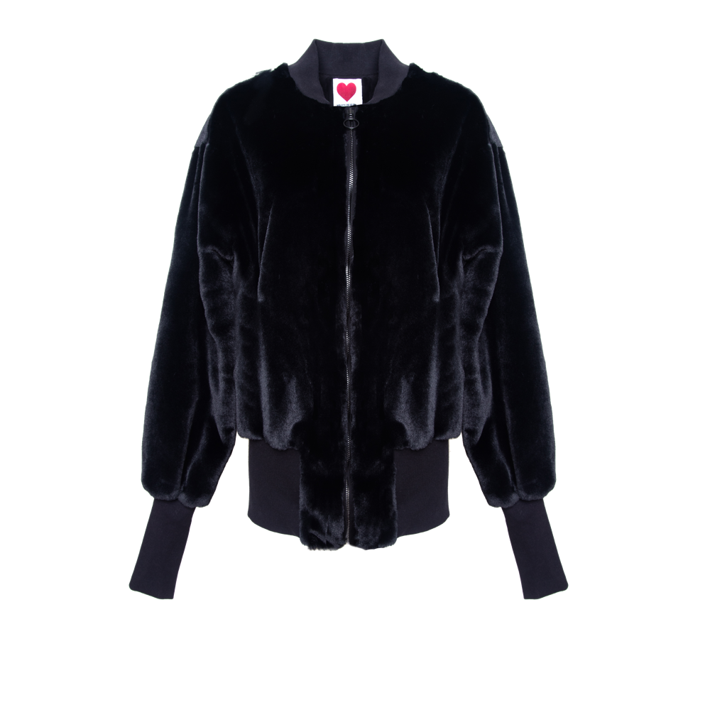 Oversized Teddy Bomber Jacket - House of Fluff